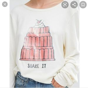 Wildfox Shake It Jello Pullover Sweatshirt XS